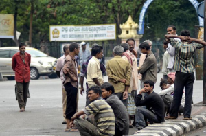 At one of the nampally addas: The naukri.com for hiring daily wage labourers (Source: The Hindu)